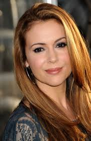 hair color for over 40 with blie eyes alyssa milano long hairstyle with brown and blond hair color