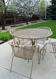 Cast Iron Patio Furniture Sets - just another hang up refurbishing wrought iron furniture