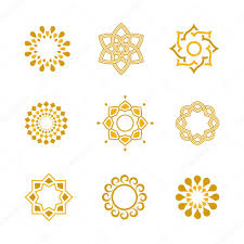 vector set luxury gold calligraphic design elements and page