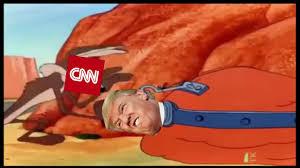 Wile E Coyote Meme - trump vs cnn meme war roadrunner edition cnnmemewar youtube
