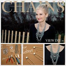 statement chain necklace images Triple chain statement necklace diy jpg