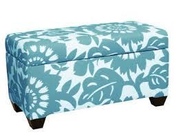 Skyline Furniture Upholstered Storage Bench Upholstered Storage Bench In Gerber Surf Everything Turquoise