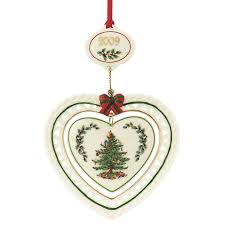 2009 annual spode christmas tree ornament the danbury mint