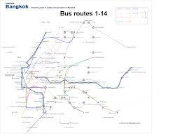 Bus Map Bangkok Bus Map Route 1 14