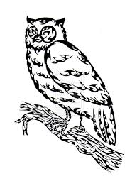 clipart owl black and white outline of an owl clip art library