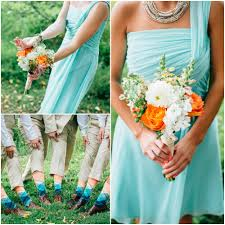 robin egg blue bridesmaid dresses mint wedding featured on every last detail