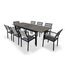 outdoor extendable dining table heritage outdoor living outdoor