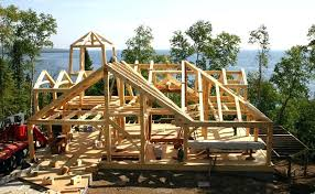 a frame cabin kit timber frame cabin kit timber frame house kit 05 front view timber