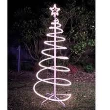 buy 120cm white solar led spiral tree rope light