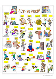 176 free esl verbs action verbs worksheets
