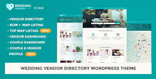 wedding vendor websites vendor templates from themeforest