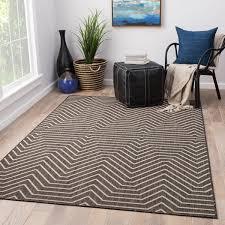 6 X 9 Outdoor Rug Juniper Home Clarion Geometric Grey Indoor Outdoor