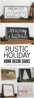 decor signs 20 beautiful rustic ideas for christmas decorations diy home