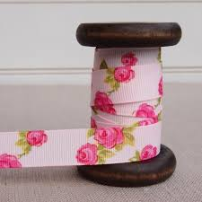 patterned ribbon pink grosgrain ribbon 16mm patterned ribbon ribbon