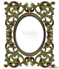 bronze decor mirror frame with classic royal ornaments vector