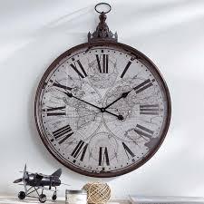 wand uhr wanduhr antik metall wanduhren design my lovely home my