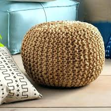 Ottoman Knitted Cable Knit Pouf Ottoman Etechconsulting Co