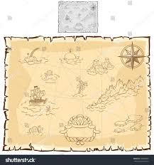Pirates Map Ancient Map Pirates Map On Old Stock Vector 396966862 Shutterstock