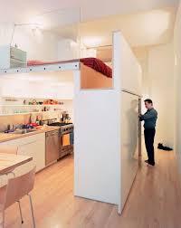 bloc cuisine studio lit mezzanine adulte pour l aménagement du petit appartement