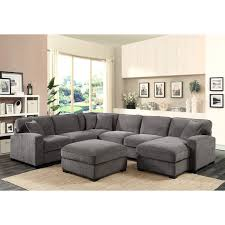 Klaussner Walker Sofa Repose Loveseat Corner Sofa Chaise With 4 Pillows Charcoal Emerald