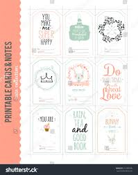 cute vector cards notes stickers labels stock vector 312385508