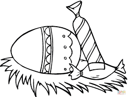 easter candy and eggs coloring page free printable coloring pages