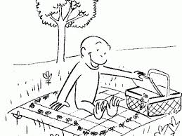 curious george camping coloring pages image sense 850892