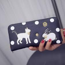 designer handy kmffly cat and rabbit wallet luxury brand purse pockets