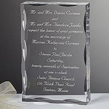 engraved wedding gifts personalized wedding invitation keepsake gift