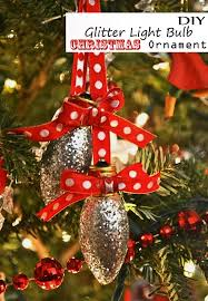 glitter light bulb tree ornament cool easy kid craft