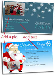 free christmas party invitation cards customize and print