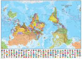 What Is A Map Projection About The Upside Down Map Of The World Sacredmargins