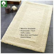 Cotton Reversible Bathroom Rug Arizona Reversible Luxury Cotton Bathroom Carpet