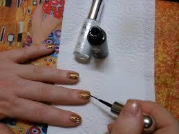 cherrysue doin u0027 the do klimt inspired nail art tutorial