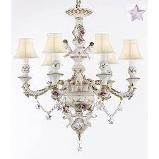 porcelain chandelier roses authentic capodimonte porcelain chandelier lighting with cherub