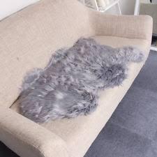 Shaggy Grey Rug Ikea Fårdrup Fardrup Faux Grey Sheepskin Rug 100x60cm Ebay