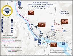 Montana State Map Thompson Falls Community Trails Sanders County Montana