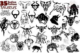 tribal taurus and aries tattoo design in 2017 real photo