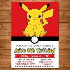 best 25 pokemon party invitations ideas on pinterest pokemon