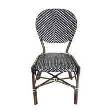 Black Bistro Chairs Safavieh Rural Woven Dining Indoor Outdoor Esben Black Side