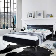 Schlafzimmer Bett Metall Komplett Schlafzimmer Glacey In Schwarz Pharao24 De