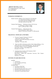 resume sample for teaching teacher resume sample in philippines frizzigame sample resume for teachers without experience in the philippines