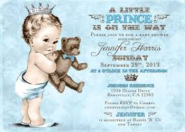 baby boy baby shower invitations teddy baby shower invitation for boy prince crown