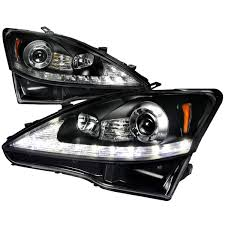 jdm lexus is250 lexus 2006 2009 is250 led drl projector headlights hid by