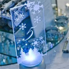 Winter Wonderland Centerpieces by Casey U0026 Heinrich U0027s Real Wedding Winter Wonderland Decor Winter