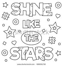 shine stars coloring vector stock vector 686081716