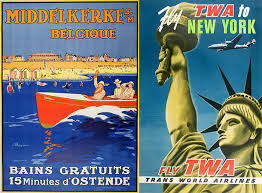 Travel Posters images How travel posters journeyed from ad to art form jpg