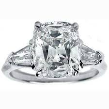 engagement rings with baguettes engagement ring tapered baguette bullet engagement ring like