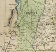 Map Of Vt South Vermont And Lake George Ticonderoga Area Map 1783