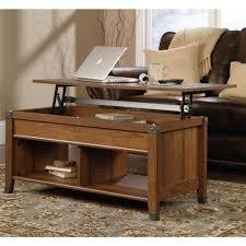 sauder carson forge lift top coffee table washington cherry